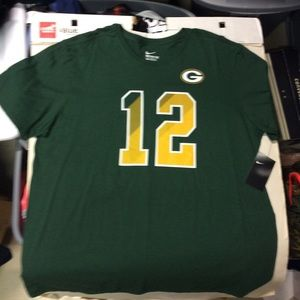 Green and yellow Green Bay Packers Nike T-shirt